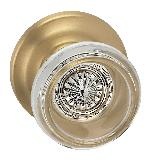 Omnia 566TD Prodigy Glass Knob with Traditional Rose